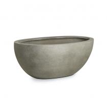 Paolelli Garden vaso da giardino Montreal concrete line in fibra di argilla fiberclay 86x43x31