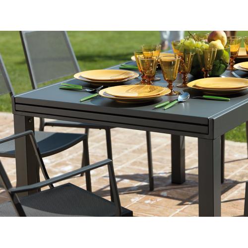 Vermobil tavolo sofy estensibile grigio antico 140 280 x 90 for Tavolo estensibile