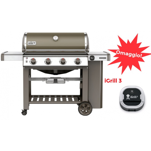Barbecue a gas Weber genesis II E-410 Gbs smoke grey