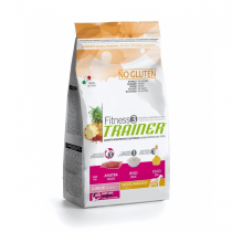 Crocchette per cani Trainer fitness 3 puppy junior medium maxi anatra, riso e olio 12,5 kg