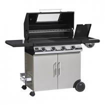 Il Bracere barbecue a gas Beefeater Discovery 1100E 3 fuochi con carrello e fornello