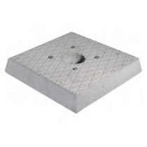Pozzetto in cemento per fontana Bel-Fer base quadrata 42/BSC/1