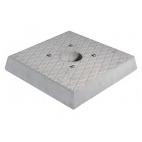 Bel-Fer base in cemento quadrata per fontanella 42/BSC/1