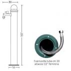Fontana da giardino in ferro alta Bel-Fer 42/ARM