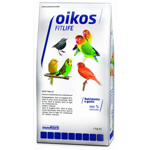 Oikos Fitlife pastoncino per uccelli giallo 1 Kg