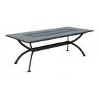 Vermobil tavolo in ferro Valentino allungabile grigio antico