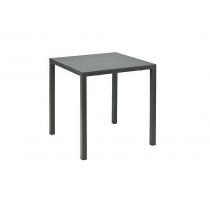 Vermobil tavolo alto quatris quadrato 70 x 70 in metallo verniciato