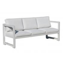 Vermobil divano quatris 3 posti in ferro bianco raggrinzato