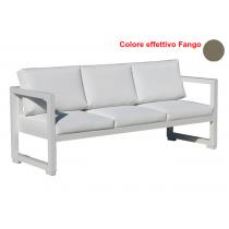 Vermobil divano quatris 3 posti in ferro fango