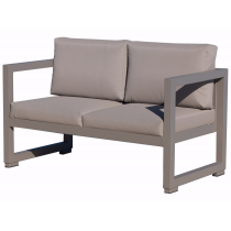 Vermobil divano quatris 2 posti in ferro fango