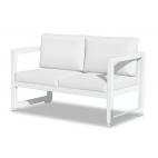 Vermobil divano quatris 2 posti in ferro bianco raggrinzato