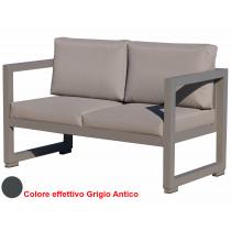 Vermobil divano quatris 2 posti in ferro grigio antico