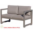 Vermobil divano quatris 2 posti in ferro bianco perla