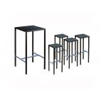 Vermobil tavolo alto seaside 75 x 75 kit + 4 sgabelli grigio antico